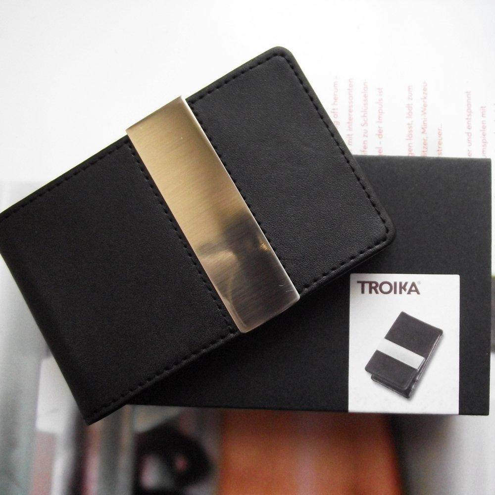 Midnight Kreditkartenetui Troika schwarz