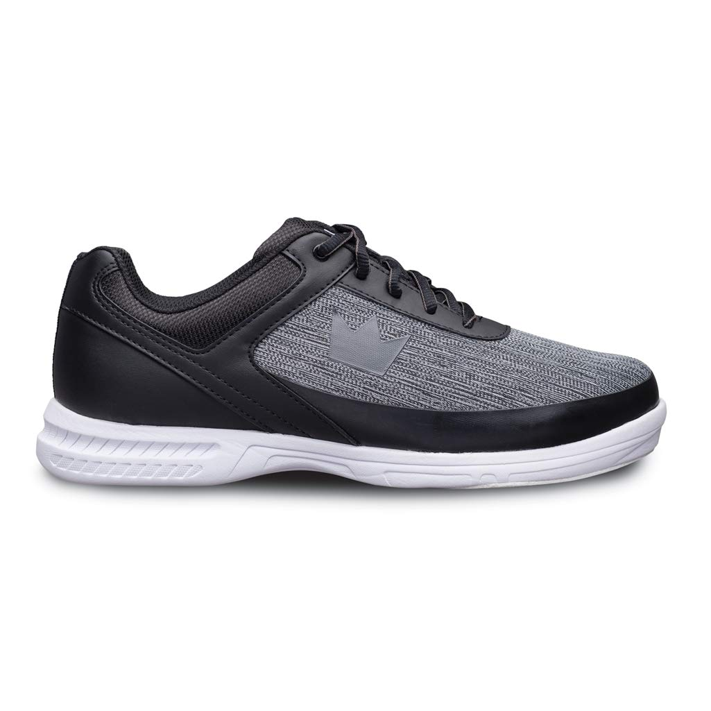 Brunswick Bowling Products Mens Frenzy Static Bowling Shoes- Wideblack/Grey 8 E US, Black/Gray, 8W