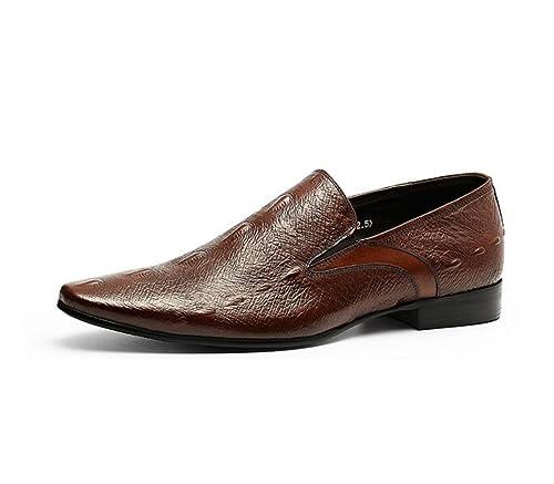 Zapato de Trabajo de Oficina de Hombre Holgazán en el Vestido Elegante Zapatos Formales Traje de Ocio de Caballero Zapatos de Negocios: Amazon.es: Zapatos y ...