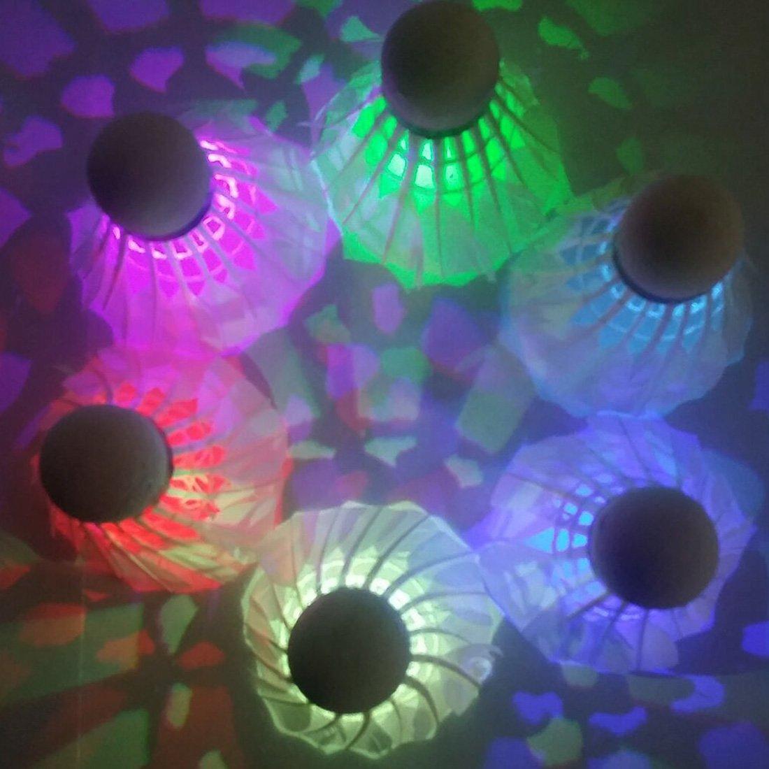farshop LED Badminton Volants en Dark Night Glow Birdies Éclairage pour l'intérieur Activités sportives