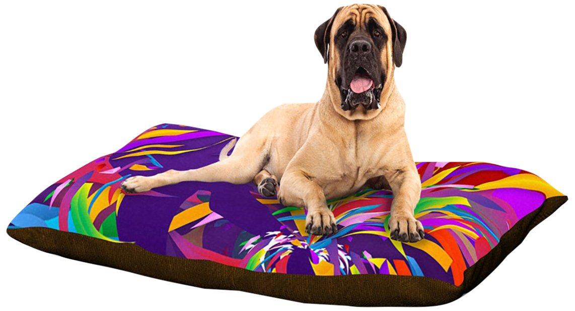 X-Large 40\ Kess InHouse Danny Ivan Shooting  Purple Rainbow Dog Bed, 50 by 60-Inch