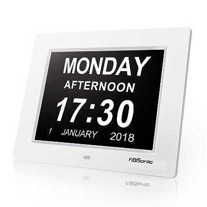 Reloj Digital Marco digital, grande colgar en la pared Negro Reloj despertador y múltiples alarmas