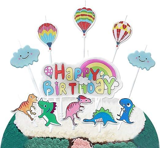 Amazon.com: Vela de cumpleaños de PinkBlume, decoración para ...