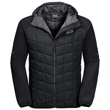 3b777aa0ab Jack Wolfskin Mens Grassland Hybrid Hooded Windproof Softshell Jacket:  Amazon.co.uk: Clothing
