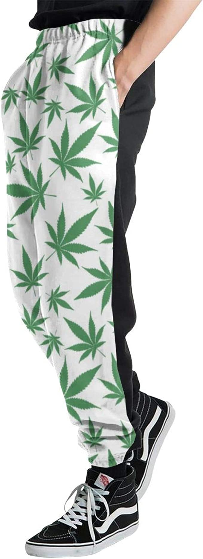 Hojas de Marihuana Verde en pantalón de chándal Ligero Cerrado ...