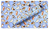 Corgis Blue Playmat Playmat Bag - Kit by Inked Gaming / Perfect for TCG Card Gaming Card Playmat Tube Plus Playmat