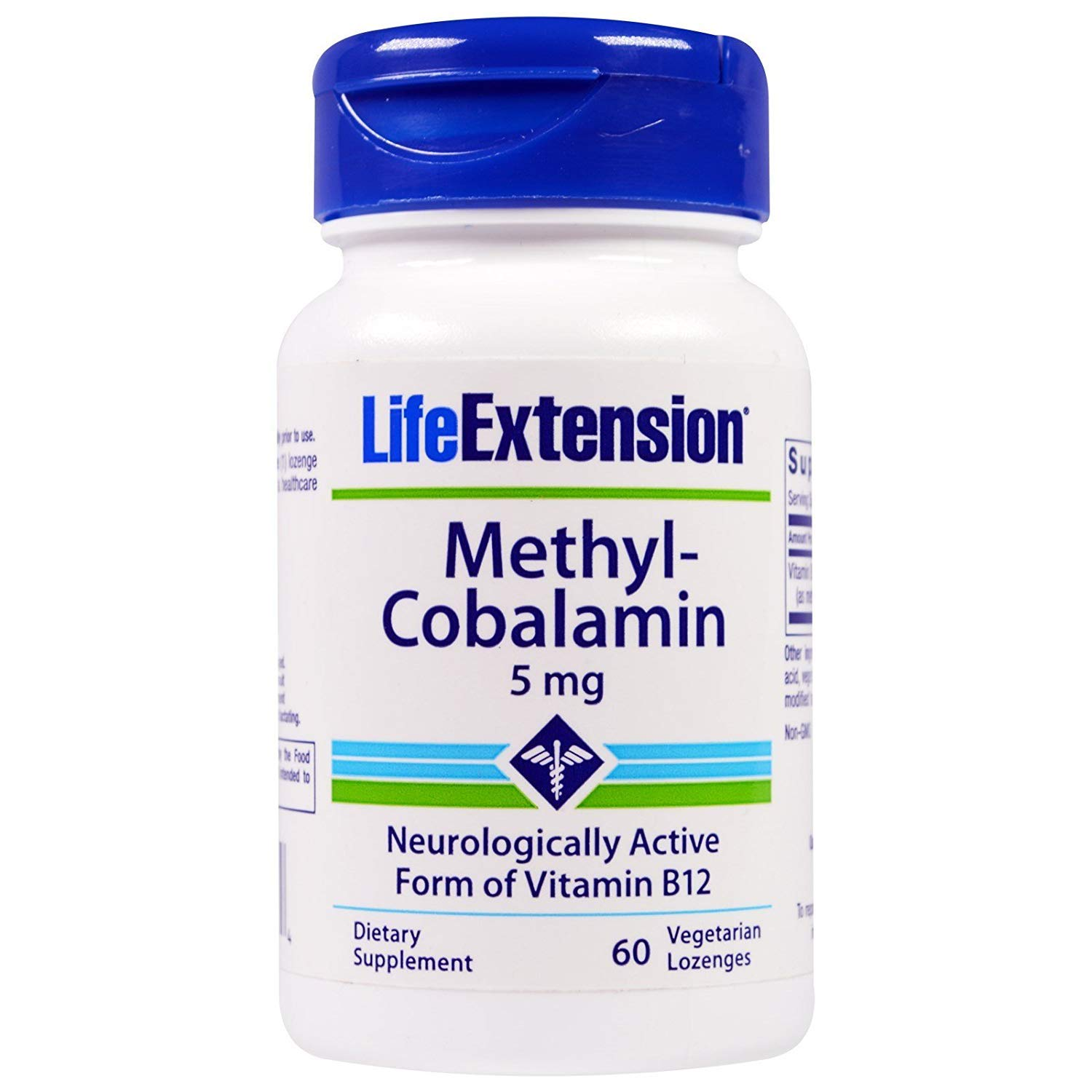 Life Extension, Methyl-Cobalamin, 5 mg, 60 Vegetarian Lozenges - 2pc