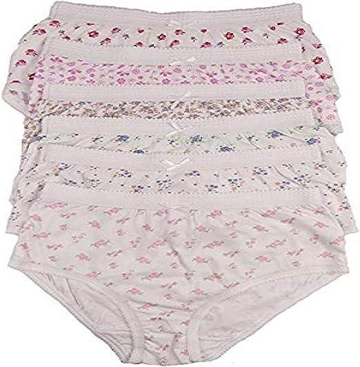 Ladies Pants Full Briefs Knickers Underwear 100/% Cotton Floral