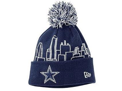 Amazon.com   New Era NFL Licensed Dallas Cowboys Skyline Wraps Pom ... b34cb250f87