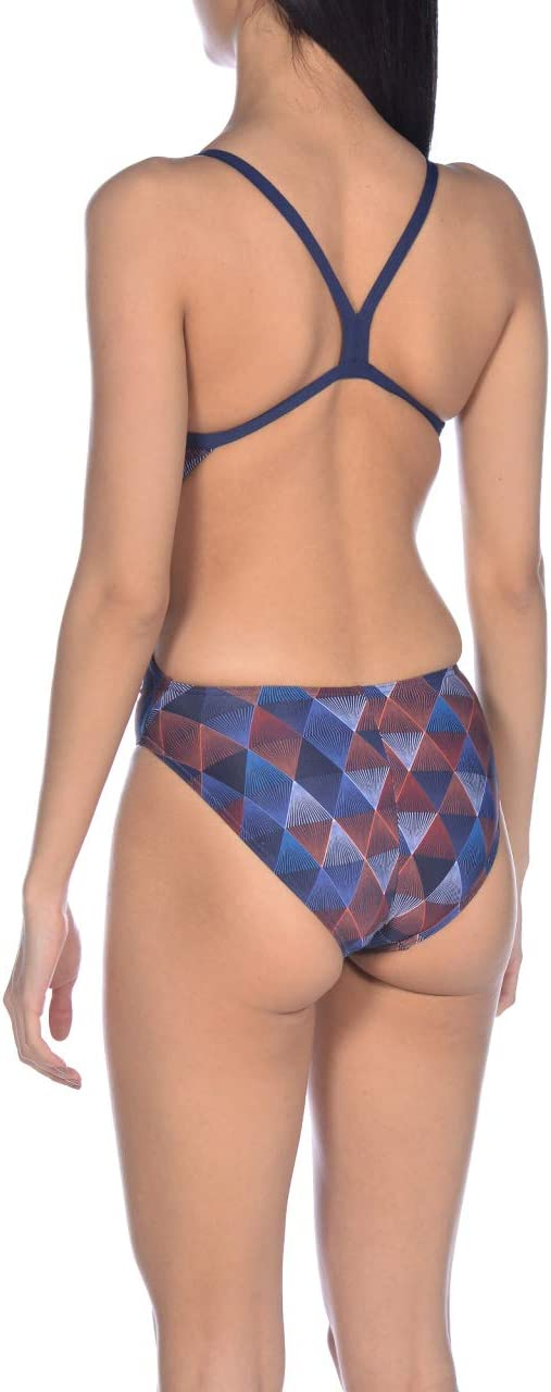 ARENA W Linear Triangle Challenge Back One Piece Maillot de Bain Femme
