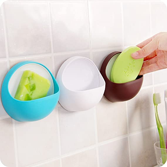 93e4a547d653 Suction Soap Dish,Powerful Vacuum Suction Cup Soap Holder,Bathroom Kitchen  Soap Toothbrush Box Bathroom Shower Accessory