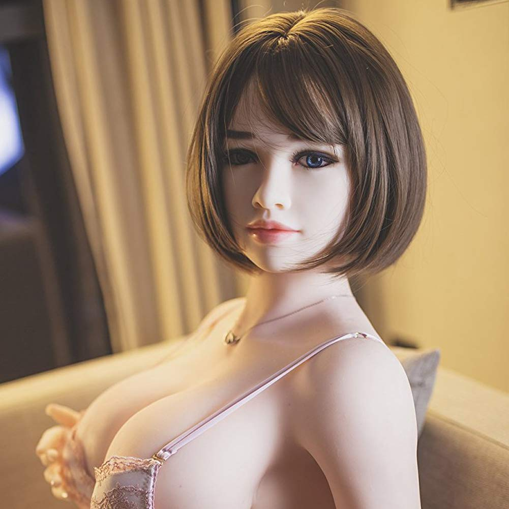 Oral Sex Doll Head Male Sex Dolls Heads Real Doll TPE Silicone Sex for Big Size Love Dolls I35cm-176cm Sex Toy for Men-Natural Skin (Head 3)