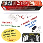 EzWand Blinds Single Package - Automate Motorize your Horizontal and Vertical blinds simply by replacing the Wand, Control up to 24 blinds, blind wand replacement, EZ Wand, Easy Wand (Control 1 Blind)