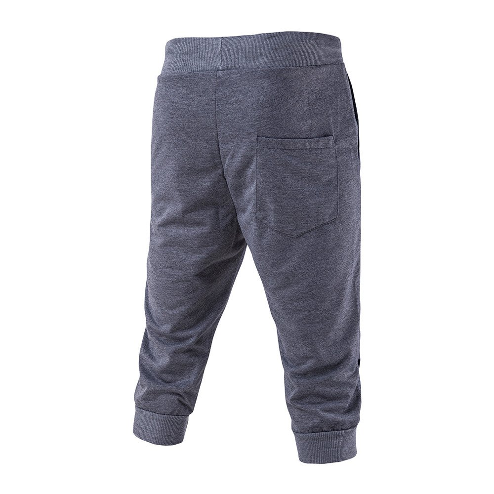 LEERYAAY Cargo/&Chinos Fashion New Mens Pants Drawstring Elastic Waist Printing Loose Sports Pants