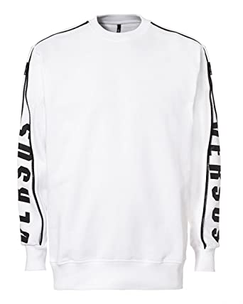 Versus Versace - Pull - Homme Blanc Blanc - Blanc - L  Amazon.fr ... fe9bb44eec4