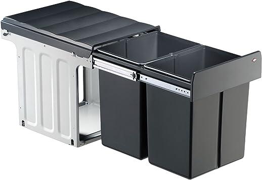 2 x 20 L WESCO Profiline Double-Master-Maxi 40 DT Einbau-Abfallsammler 1 St/ück anthrazit,887911-11