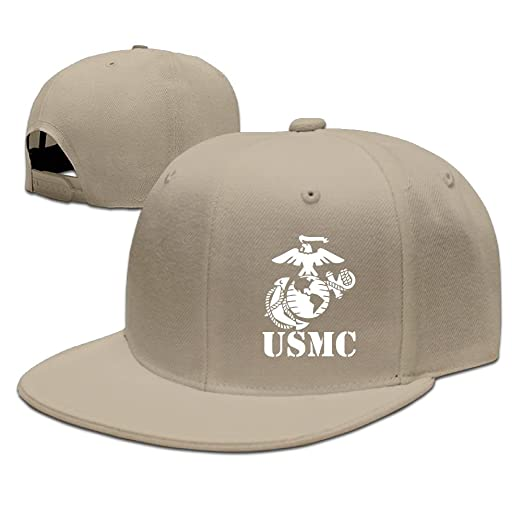 334d09e99e8c Amazon.com: BDHESR USMC Marine Corps Snapback Hats For Men Funny Hip ...