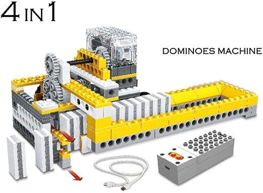 SPFTOY Juguete Intelectual Rompecabezas Ciencia enseñanza Ayuda Poder maquinaria Montaje de Bloques de construcción de Equipo eléctrico: Amazon.es: Jardín