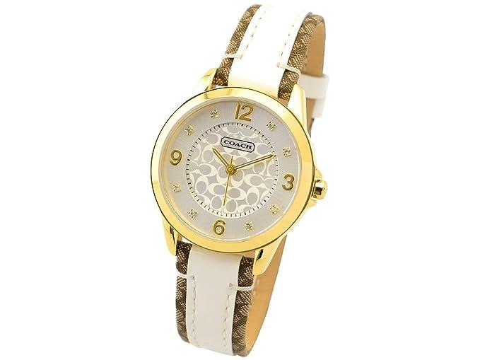 81adddd21f1d (コーチ) COACH 腕時計 レディース 32mm ニュークラシックシグネチャー ゴールド ピンク カーキ ホワイト ステンレススティール