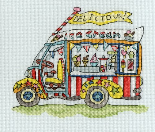 Bothy Threads Sew Dinky Ice Cream Van Cross Stitch Kit by Bothy Threads