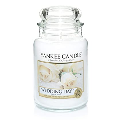 Yankee Candle Large Jar Scented Candle, Wedding Day, Up to 150 Hours Burn  Time