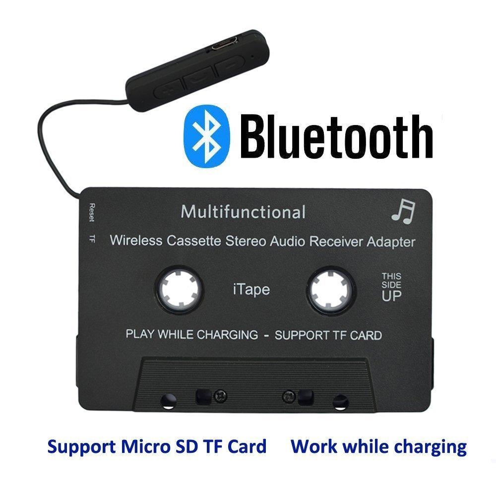 iTape cassette adaptador coche Bluetooth trabajo mientras se carga soporte tarjeta TF CSR Bluetooth V4.1 + EDR receptor audio esté reo adaptador para coche CNLL