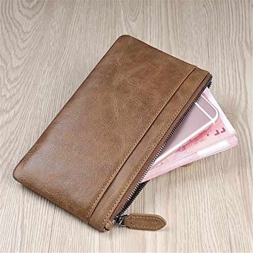 Coin Wallet Billfold Purse Pocket Front Slim Removable Khaki Case ID Card Men BININBOX xqSwXIt1HE