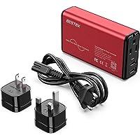 Bestek Pure Sine Wave Universal Travel Voltage Converter to 110V Power Voltage Dual (Red-Black)