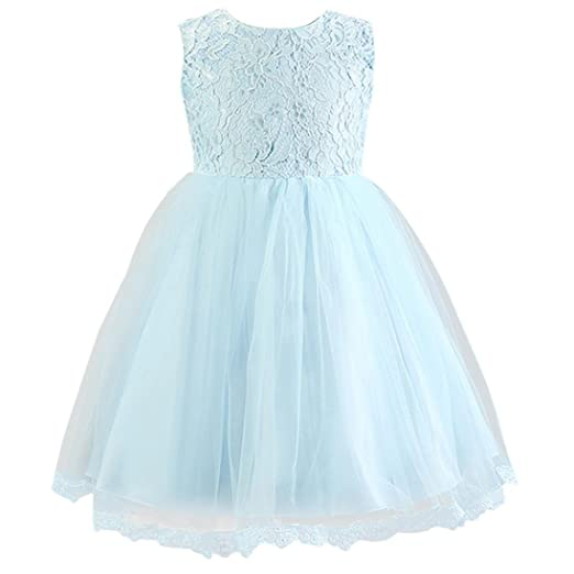 Amazon.com: iumei Flowers Toddlers Baby Girls Lace Princess ...