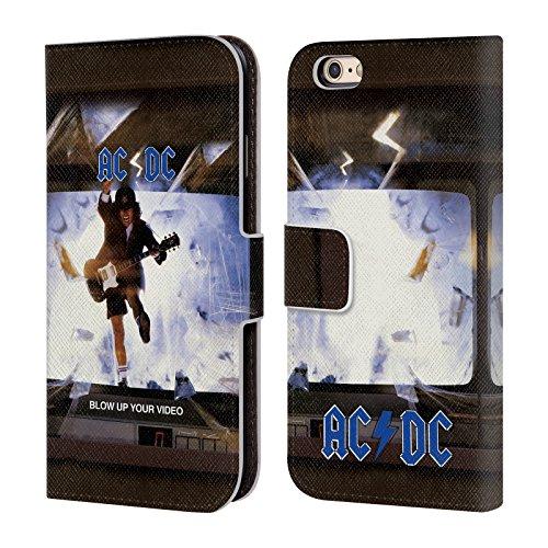 Officiel AC/DC ACDC Faites Sauter Votre Vidéo Couverture D'album Étui Coque De Livre En Cuir Pour Apple iPhone 6 / 6s