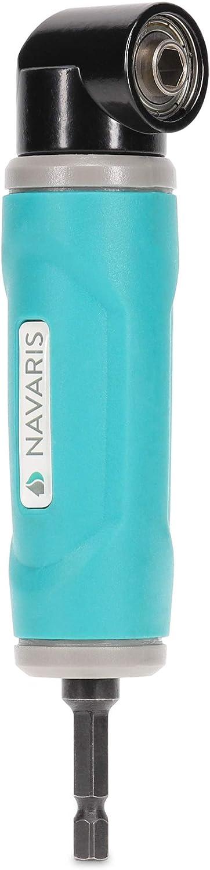 Navaris Renvoi dangle 90/° Adaptateur angulaire 90/° pour perceuse visseuse avec ou sans fil outil /électrique Accessoire angle droit bricolage