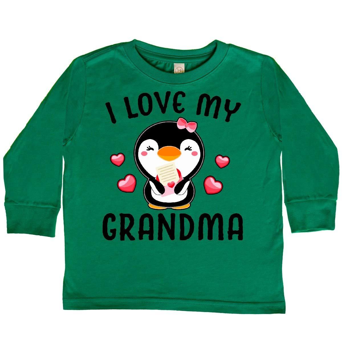 inktastic I Love My Grandma with Cute Penguin and Toddler Long Sleeve T-Shirt