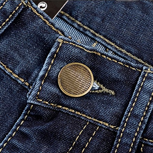 Gamba Jeans A Blu Dritta Topgrowth Autunno Uomo Slim Casual Hop Fit Lavoro Lunghi Straight Denim Hip Pantaloni fwd6qxB