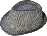 Jasmine Fedora Hat Women/Men's Classic Short Brim Manhattan Gangster Trilby Cap