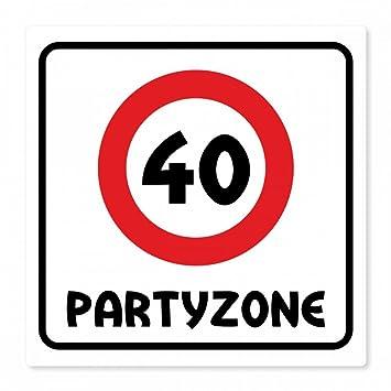 Herz /& Heim/® Riesiges PVC Verkehrsschild zum 37 Geburtstag 50cm x 50cm