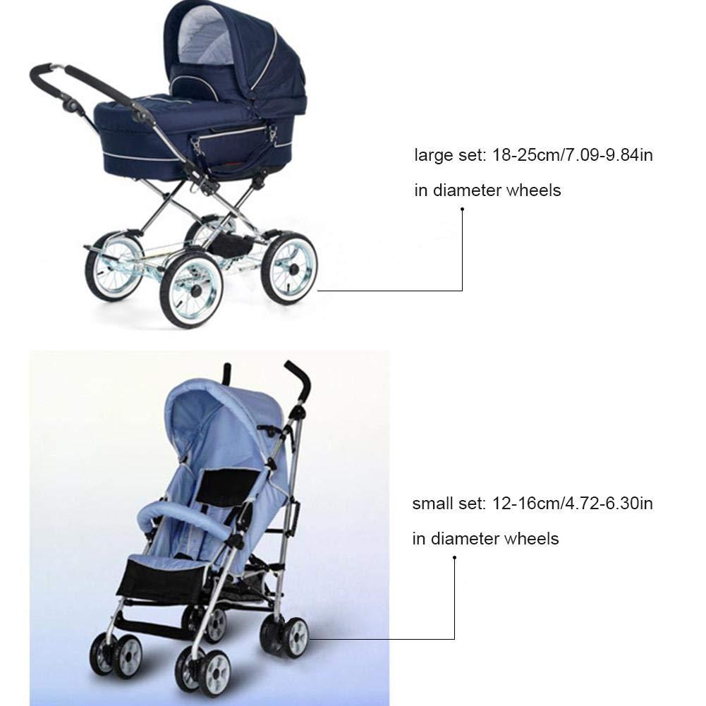 Reifenschutz f/ür Kinderwagenr/äder Radschutz Kinderwagen R/äder Schutzh/ülle Anti Schmutzigen Staub Rad Schutzh/üllen staubdicht Zubeh/ör F/ür Kind Kind Baby