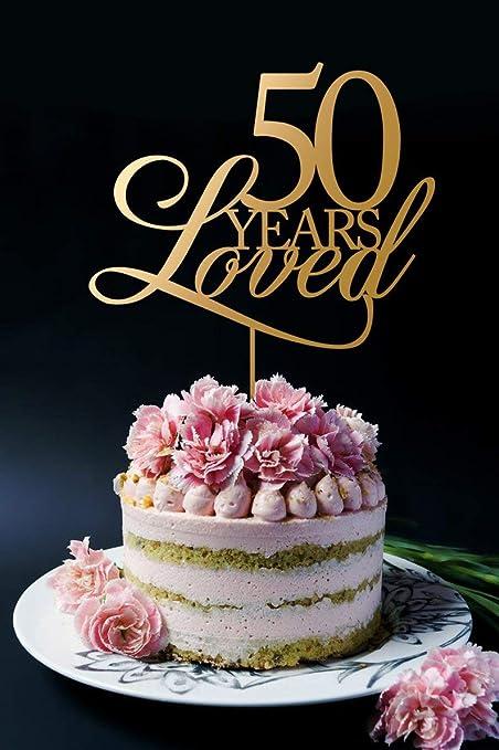 Decoración para tarta de 50 años de amor, para 50 cumpleaños ...