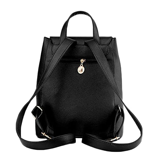 Amazon.com | Fanova Backpack PU Leather Mochila Escolar School Bags For Girls Travel Bags+Clutch | Backpacks
