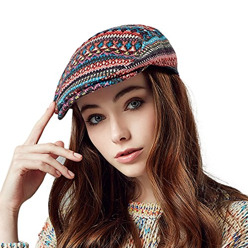 Kenmont Autumn Winter Fashion Women Lady Newsboy Cabbie Hat Outdoor Peak Ivy Cap