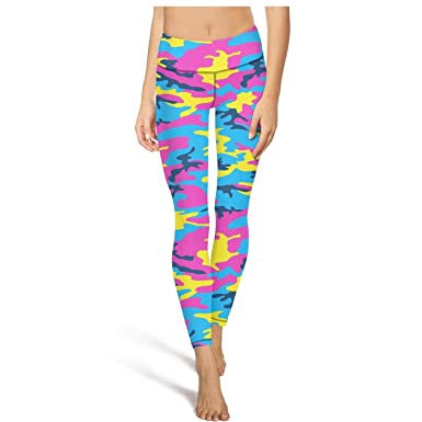 448ec78f26df1 Yoga Pants with Pockets for Womens Capri Leggings Colorful Urban Digital  camo Fit Pockets Footless Tights