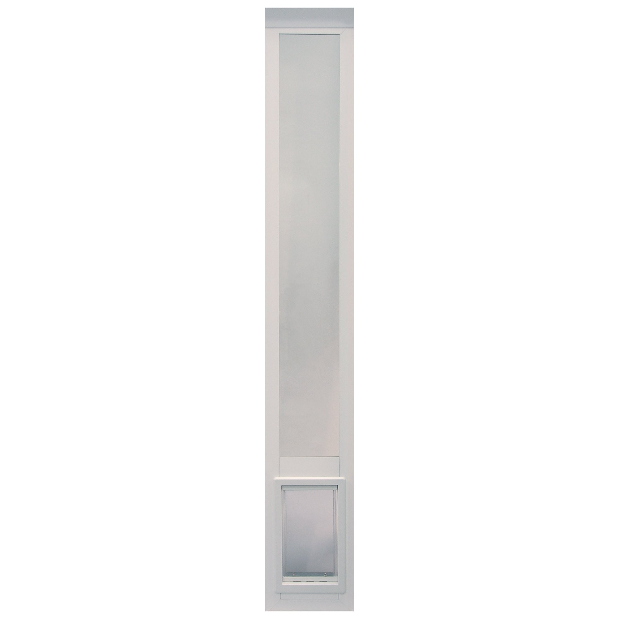 """Ideal Pet Products Non Insulated Vinyl Pet Patio Door, White, Medium, 6 5/8"""" x 11 1/4"""" Flap Size by Ideal Pet Products"""