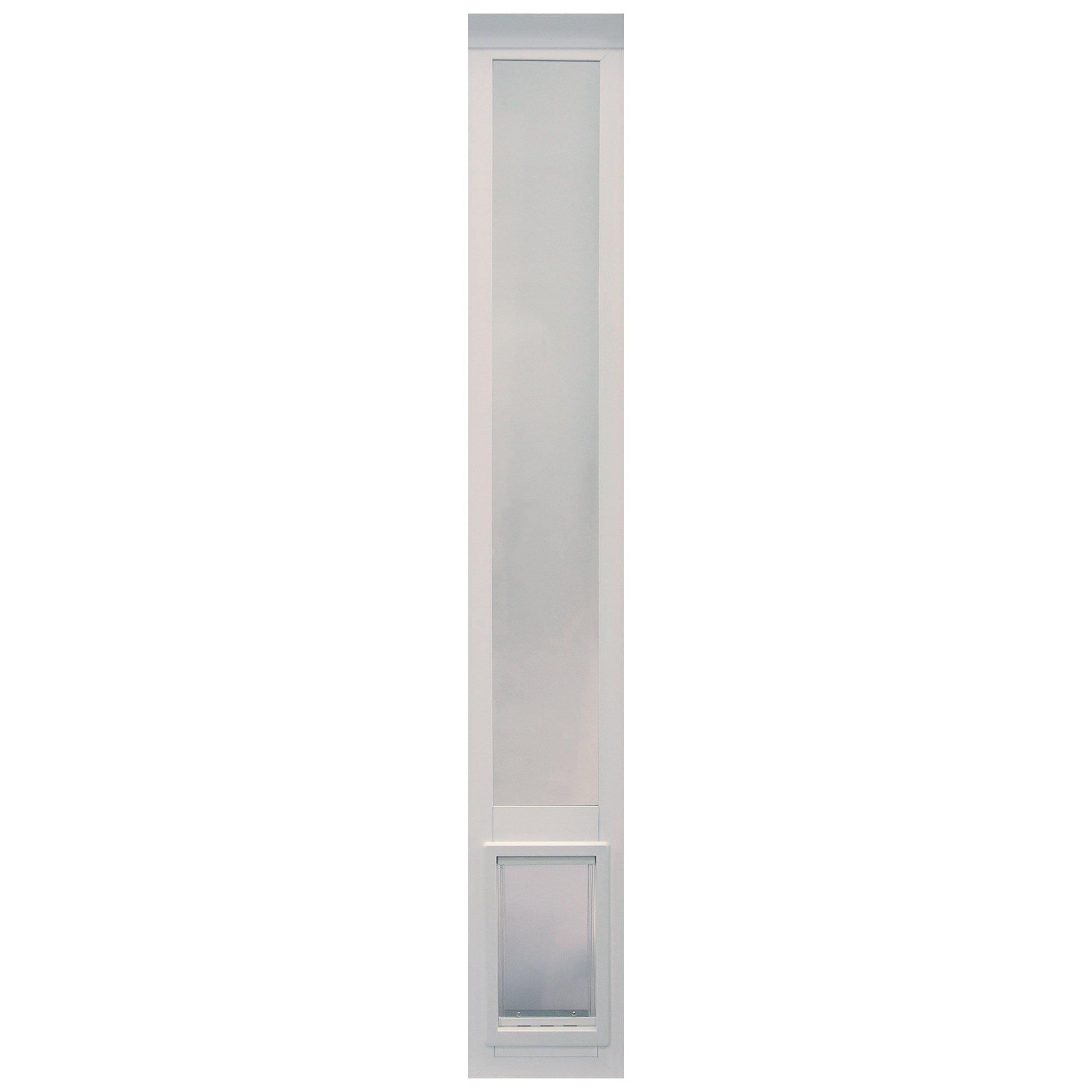 "Ideal Pet Products Non Insulated Vinyl Pet Patio Door, White, Medium, 6 5/8"" x 11 1/4"" Flap Size"