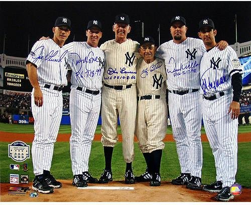 Yankees Final Game at Yankee Stadium Perfect Game Battery Mates w/PG Insc. 16x20 Photo (MLB Auth)