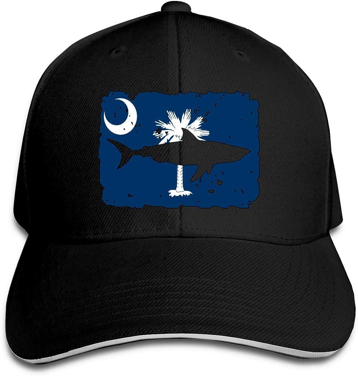 Classic Unisex Vintage Shark South Carolina Flag Baseball Hat Baseball Cap