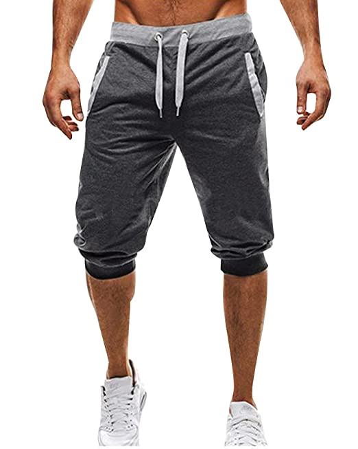 Tomwell Hombre Pantalones Cortos Bermuda Jogging Running Pantalón con Bolsillos Moda Cómodo Cintura Elástica Gym… PkvGx