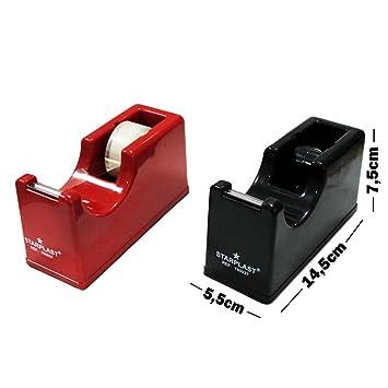 160037 - Set de 3 Dispensadores de cinta adhesiva para celo de tamaño estándar (Extra grande): Amazon.es: Oficina y papelería