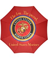 Halloween Gifts USMC United States Marine Corps Marines Semper Fi Foldable Sun/Rain Umbrella Sunshade