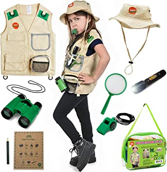 Born Toys Backyard Safari Chaleco y Gorro con el Kit Explorer para ...
