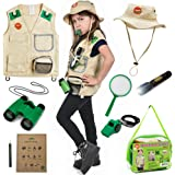 Born Toys Outdoor Explorer Kit for Boys and Girls with Washable Premium Safari Vest and Adventure kit with Scavenger…