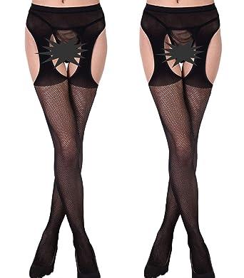 2f801e8e6 Buauty Sheer Pantyhose Tights Plus Size Crotchless Hosiery Women Seamed  Stocking  Amazon.co.uk  Clothing